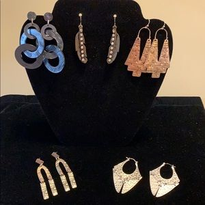 LOT if 5 Pair of Never-worn Earrings